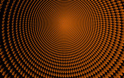 Abstract. A Magical 3d orange tunel Stock Photo