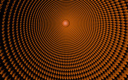 Abstract. A Magical 3d orange tunel with sun Royalty Free Stock Photos