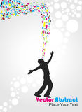 Abstract Magical Power Young Man Illustration Royalty Free Stock Photos