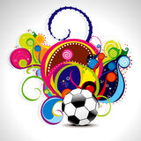 Abstract magical wave background with football Stock Image