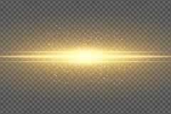 Abstract magisch modieus lichteffect voor een transparante achtergrond Gouden flits Het lichtgevende het vliegen stof het Flikker stock illustratie