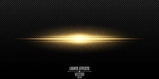 Abstract magisch modieus lichteffect voor een transparante achtergrond Gouden flits Lichtgevende vliegende stof Vectorillustratie royalty-vrije illustratie