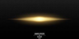 Abstract magisch modieus lichteffect voor een transparante achtergrond Gouden flits Vector illustratie vector illustratie