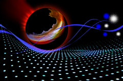 Abstract magma ball flowing Royalty Free Stock Photo