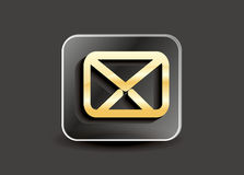 Abstract mail button Royalty Free Stock Photos
