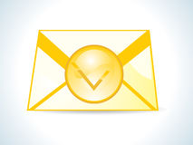 Abstract mail icon. With blue back ground Stock Image
