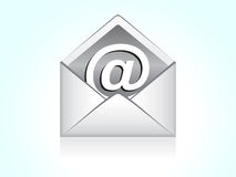 Abstract mail icon. Vector illustration Royalty Free Stock Photography