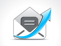 Abstract mail icon with arrow Royalty Free Stock Images