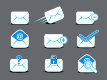 Abstract mail  icon set. Vector illustration Stock Image