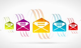 Abstract mail Stock Image
