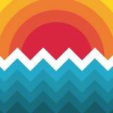 Abstract in malplaatje met verschillende geometrische vormen en texturen royalty-vrije stock foto