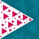 Abstract in malplaatje met verschillende geometrische vormen en texturen royalty-vrije stock afbeelding