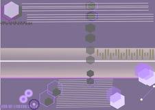 Abstract malplaatje in purple Stock Foto's