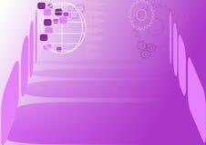 Abstract malplaatje in purple Vector Illustratie