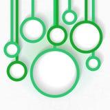 Abstract malplaatje voor infographics met het hangen van cirkels Stock Fotografie