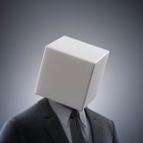 Abstract man with a box head Stock Image