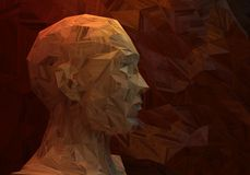 Abstract man head Royalty Free Stock Photos