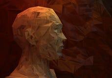 Abstract man head Royalty Free Stock Photos