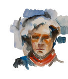 Abstract man or woman watercolor Royalty Free Stock Photography