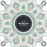 Abstract Mandala background with colorful stylish lines. Simple, trendy design. suitable for banner, flyer, brochure, web background, sale poster, and other Royalty Free Illustration