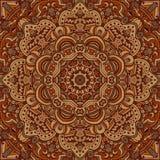 Abstract mandala brown seamless pattern ornamental. Abstract mandala flower ornament. Ethnic seamless pattern vintage background Royalty Free Stock Photos