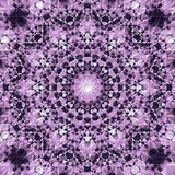 Abstract Mandala in Dark Blue Violet and Light Violet to White colors - square background Royalty Free Stock Images