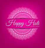 Abstract Mandala decoration for Happy Holi Festiva Stock Image