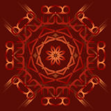 Abstract mandala on deep red background with Stock Photography