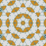Abstract mandala design template royalty free illustration