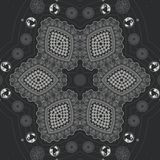 Abstract mandala design template stock illustration