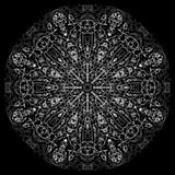Abstract mandala. Digital design with funky lines stock photography