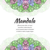 Abstract mandala. Floral ornamental border . Round pattern, oriental style. Stock Images