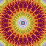 Abstract mandala fractal design background vector Royalty Free Stock Photography