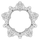 Abstract mandala frame mehndi elements Stock Photos