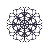 Abstract Mandala Geometry Outline for decoration or tattoo stock illustration