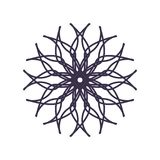 Abstract Mandala Geometry Outline for decoration or tattoo royalty free illustration