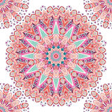 Abstract mandala naadloos patroon van waterverf etnisch overladen veren Vector Illustratie