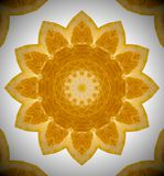 Abstract mandala orange photo royalty free stock images