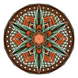 Abstract Mandala Oriental-patroon, tatoegeringsvector stock illustratie