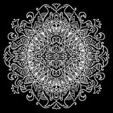 Abstract mandala ornament for adult coloring books.  Stock Photos