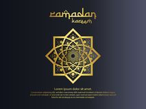 Abstract mandala ornament pattern element design with paper cut style for Ramadan Kareem islamic greeting. invitation Banner or Ca. Rd Background Vector vector illustration