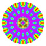 Abstract mandala in rainbow colors. Stock Images