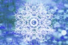 Abstract mandala with sacred geometry. And spiritual symbols stock photo