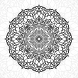 Abstract mandala unique texture use for wallpaper print and decor element, ramadan kareem, ied muabrak, tattoo, diwali royalty free illustration