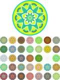 Abstract mandala vector pack Royalty Free Stock Image