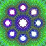Abstract mandalafractal infographic malplaatje Stock Afbeeldingen