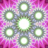 Abstract mandalafractal infographic malplaatje Royalty-vrije Stock Foto