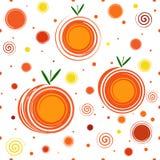 Abstract Mandarins Naadloos Patroon Stock Foto