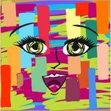 Abstract manga expression vector file artwork Stock Image