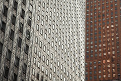 Abstract of Manhattan Buildings Royalty Free Stock Photos